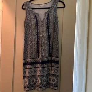 J.Jill Patterned comfortable and pretty dress